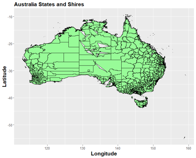 Australia Map In R.Australian Maps In R Things I Do
